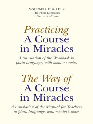 cover image of Practicing A Course In Miracles