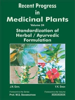 cover image of Recent Progress In Medicinal Plants (Standardization of Herbal / Ayurvedic Formulations)