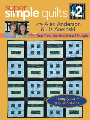 cover image of 9 New Pieced Projects from Strips, Squares & Rectangles