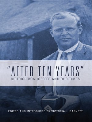 """cover image of """"After Ten Years"""""""