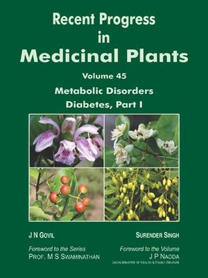 cover image of Recent Progress In Medicinal Plants (Metabolic Disorders Diabetes, Part-1)
