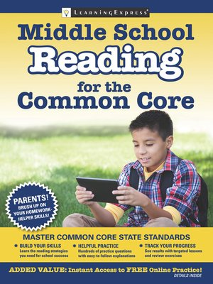 cover image of Middle School Reading for the Common Core