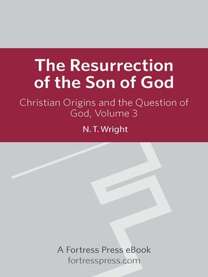 cover image of Christian Origins and the Question of God, Volume 3