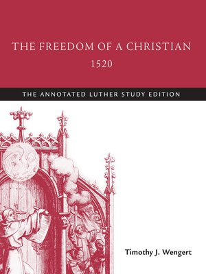 cover image of The Freedom of a Christian, 1520