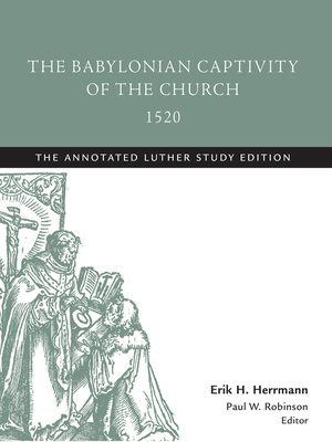 cover image of The Babylonian Captivity of the Church, 1520