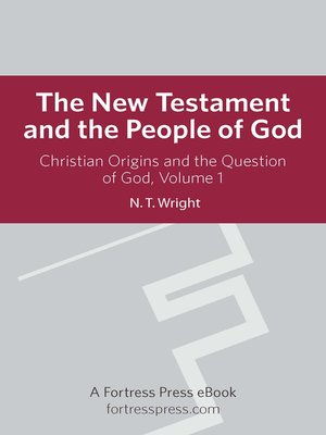 cover image of Christian Origins and the Question of God, Volume 1