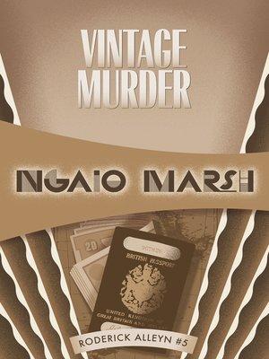 cover image of Vintage Murder