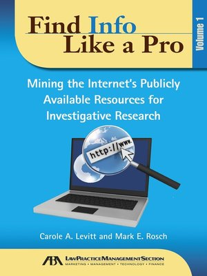 cover image of Find Info Like a Pro
