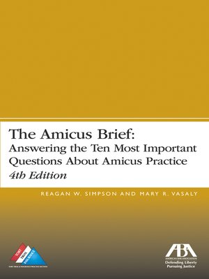 cover image of The Amicus Brief