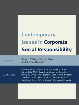 cover image of Contemporary Issues in Corporate Social Responsibility