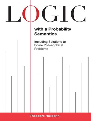 cover image of Logic with a Probability Semantics