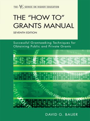 cover image of The 'How To' Grants Manual