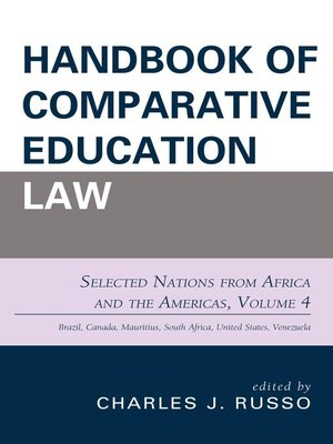 cover image of Handbook of Comparative Education Law