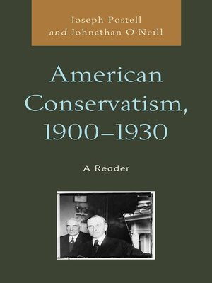 cover image of American Conservatism, 1900-1930