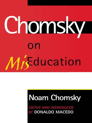 cover image of Chomsky on Mis-Education