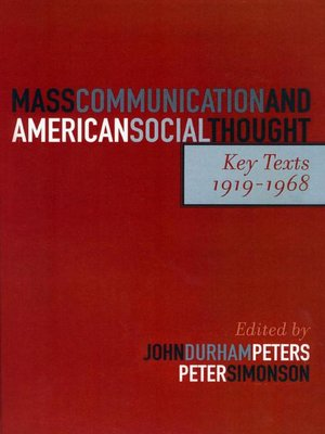 cover image of Mass Communication and American Social Thought