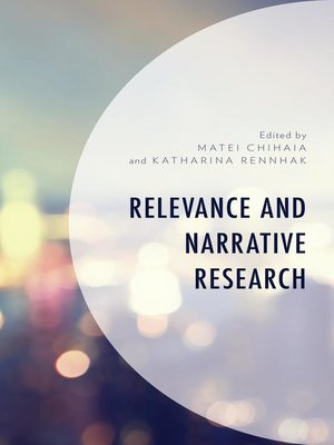 cover image of Relevance and Narrative Research