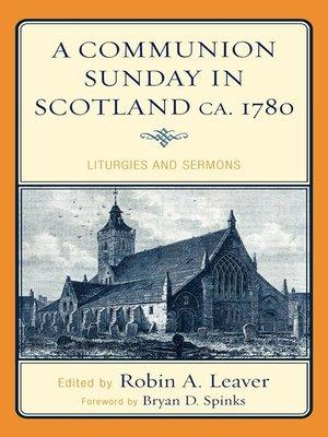 cover image of A Communion Sunday in Scotland ca. 1780