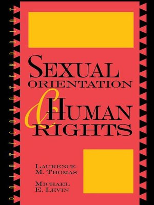 cover image of Sexual Orientation and Human Rights