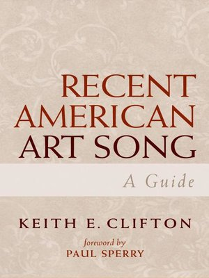 cover image of Recent American Art Song