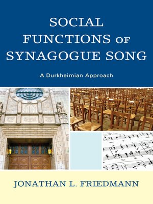 cover image of Social Functions of Synagogue Song