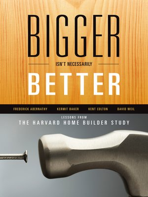 cover image of Bigger Isn't Necessarily Better
