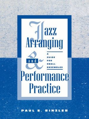 cover image of Jazz Arranging and Performance Practice