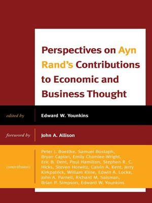 cover image of Perspectives on Ayn Rand's Contributions to Economic and Business Thought