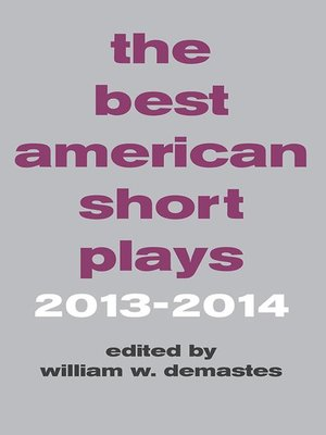 cover image of The Best American Short Plays 2013-2014