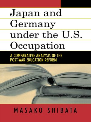 cover image of Japan and Germany under the U.S. Occupation