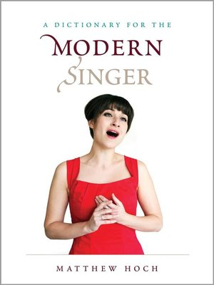 cover image of A Dictionary for the Modern Singer