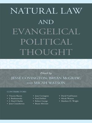 cover image of Natural Law and Evangelical Political Thought