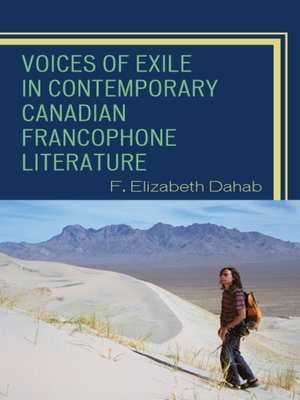 cover image of Voices of Exile in Contemporary Canadian Francophone Literature