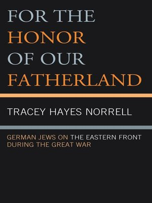 cover image of For the Honor of Our Fatherland