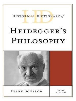 cover image of Historical Dictionary of Heidegger's Philosophy