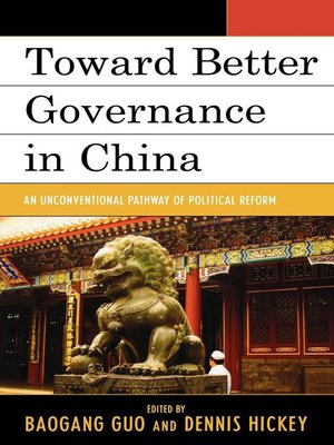 cover image of Toward Better Governance in China