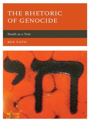 cover image of The Rhetoric of Genocide