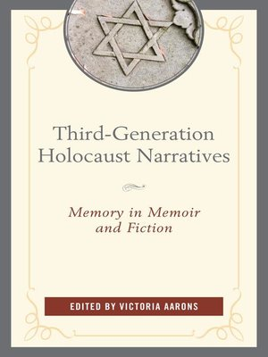 cover image of Third-Generation Holocaust Narratives