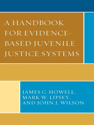 cover image of A Handbook for Evidence-Based Juvenile Justice Systems
