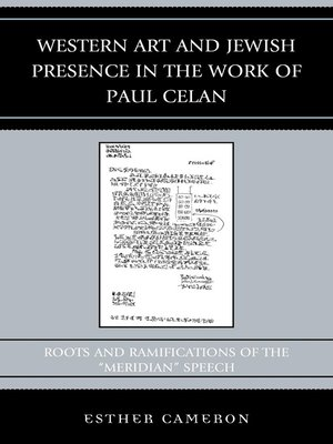cover image of Western Art and Jewish Presence in the Work of Paul Celan