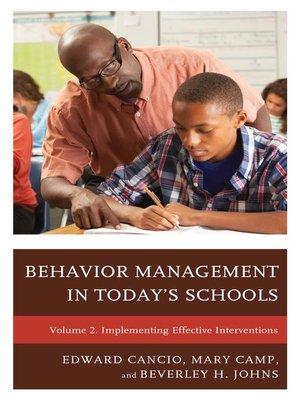 cover image of Behavior Management in Today's Schools