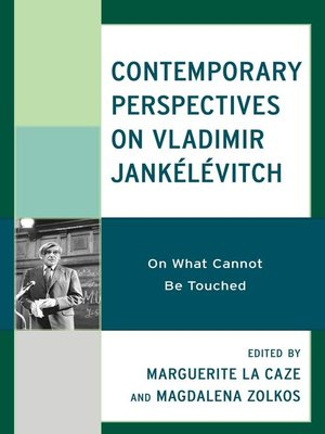 cover image of Contemporary Perspectives on Vladimir Jankélévitch