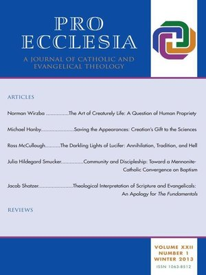 cover image of Pro Ecclesia Vol 22-N1