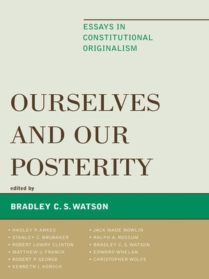 cover image of Ourselves and Our Posterity