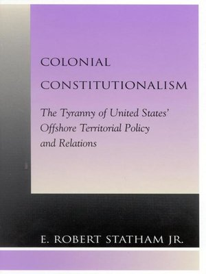 cover image of Colonial Constitutionalism