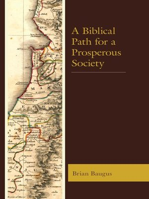 cover image of A Biblical Path for a Prosperous Society