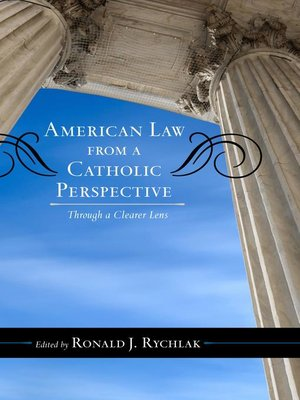 cover image of American Law from a Catholic Perspective