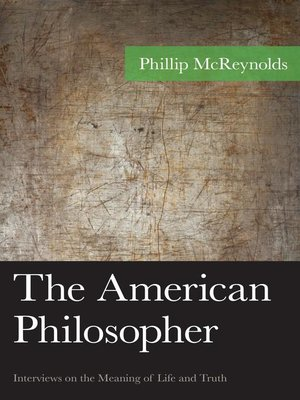 cover image of The American Philosopher