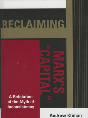 cover image of Reclaiming Marx's 'Capital'
