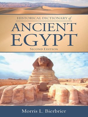 cover image of Historical Dictionary of Ancient Egypt